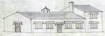 Westoning National School elevation about 1840 [AD3865/47/2]